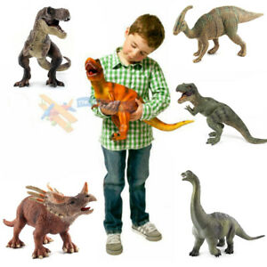 Large Stuffed Realistic Dinosaur Animal Action Figure Model Kids Playset Toys