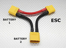 XT90 Battery Harness/Adaptor 10AWG for 2 Batts in Series- Increase Voltage ARRMA