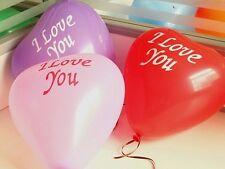 "50pcs 10"" Mixed Color ""I Love You"" Heart Latex Balloon Celebration Party Wedding"