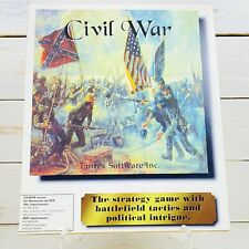 Civil War CD-ROM Version For Macintosh And IBM Entrex Software Inc. Big Box Rare