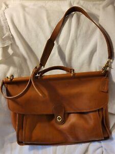 Coach Camel Brown  Cognac Leather Briefcase