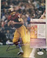 Joe Theismann Signed Washington Redskins 8x10 Photo Insc JSA COA