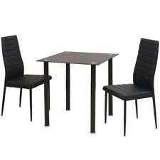 Vidaxl Set 3 pz tavolo e sedie da pranzo Nero