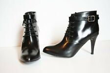 J Crew Collection High-Heel Booties 6 Black Leather Boots $450