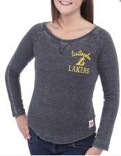 Los Angeles Lakers Sportiqe Gray Anna Lightweight Raglan Long Sleeve Thermal