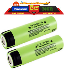 2x Panasonic NCR 18650 3400Mah 3.7 Rechargeable Battery High-Drain Flat-Top