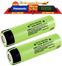 2x Panasonic NCR 18650 3400Mah 3.7 Rechargeable Battery High-Drain Flat-Top Vape