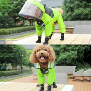 Pet Raincoat Waterproof Jacket Dogs Coat Water Resistant Clothes Dogs Rainy Day