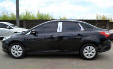 2012-2018 Ford Focus 8Pc w/Mirror Chrome Pillar Post Stainless Steel Trim No KP