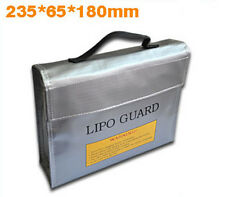 Square RC Battery LiPo Safe Battery Charging Box Guard Bag Sack 240x65x180mm