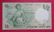 1958 BANCONOTA BANCA D'ISRAELE 1/2 - LIRA FIOR