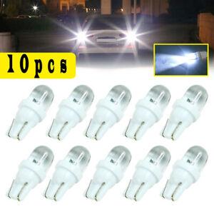 10x T10 White LED Car Wedge Bulbs Tail Turn Signal Light Backup Lamp Universal