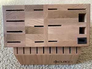 Cutco Signature 24 Slot Wooden Dark Hardwood  Knife Block Made in USA
