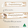 Personalised  Roses Wedding Just Married Engaged Canvas Fabric Banner Decoration