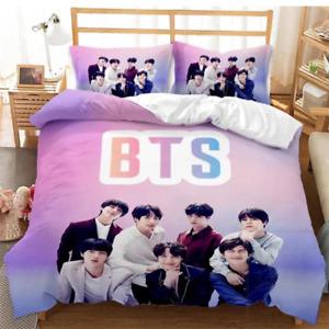3D BTS Bangtan Boys ARMY Duvet Quilt Cover Queen/King Bedding Set Pillow Case