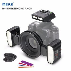Meike MK-MT24 Macro Twin Flash Dual Flash Speedlite For Nikon Canon Camera DSLR