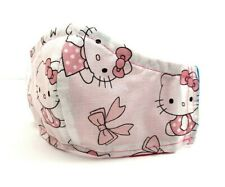 Hello Kitty Kids Girls Women Filter Pocket Double Layer Pleated Face Mask Red