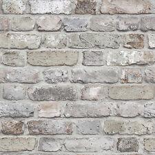 Vlies Tapete Bruchstein Mauer Klinker Ziegelstein grau creme terra FC2501 brick