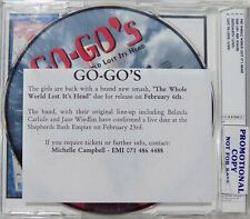 GO-GO's CD The Whole World Lost Its Head PROMO 4 - Track CD Single UK 1994