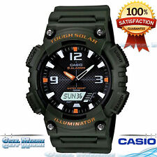 Casio AQS810W-3AV Men Tough Solar Sport Watch 100M WR World Time 5 Daily Alarms