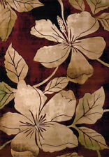 """Green Leaves Vines Petals Buds Floral Runner 510-28834 - Aprx 2' 7"""" x 7' 4"""""""