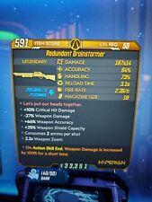 Redundant Brainstormer Borderlands 3 Rare Legendary 100% Damage Anointed Xbox 1