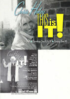THIS IS IT CABARET PERFORMANCE BY CHRIS HALEY UNUSED ADVERTISING COLOUR POSTCARD