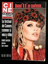 Ciné Revue du 18/05/1972; B. Bardot/ Festival de Cannes/ David Niven/ Peck/ Azna
