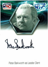 Doctor Who 40th Anniversary Autograph Card WA11 Peter Barkworth as Leader Clent