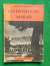 LES HOTELS DU MARAIS GEORGES PILLEMENT 1958 LA NEF DE PARIS AV PLAN GUIDE