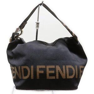 Fendi Accessories Pouch Bag Logo Black Nylon 1714763