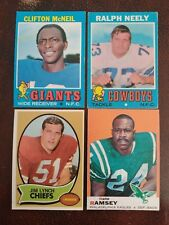 1969, 1970, 1971 Topps Football Card Pick 6 to finish your set, EX or better