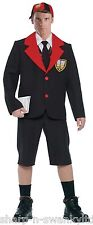 Mens Adult Black Back To School Boy Uniform Stag Do Fancy Dress Costume Outfit