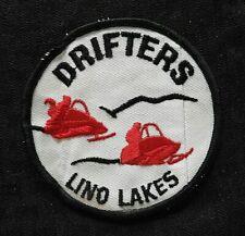 """C.1972 """" Die Drifters Motorschlitten Klub """" Lino See Mn Minnesota Patch"""