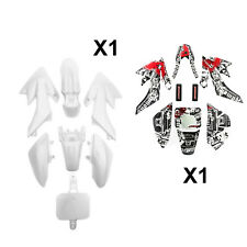 Pit Dirt Bike CRF50 White Plastic Set Honda Record Sticker 110cc 125cc 140cc CRF