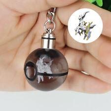3D LED Arceus Boule de Cristal avec Porte-clés Veilleuse lampe Cadeau
