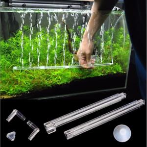 Aquarium Air Stone Bubble Bar Tube Pump Wall Curtain Diffuser for Fish Tank UK