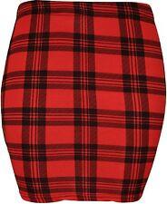 New Womens Mini Bodycon Jersey Stretch Printed Skirts 8-20