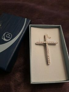 Pierre Lang Anhänger Kreuz Silber rhodiniert  Neu & OVP Swarovski Kristalle