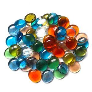 200g/16pcs 28-32mm Big Transparent Glass Drops Bead Nuggets DIY Mosaic Craft Art