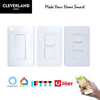 AU Approved Smart Home WiFi Light Switch Touch Panel 1/2/3 Gang APP Remote Voice