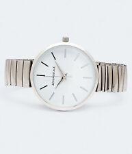 aeropostale womens round stretch metal analog watch