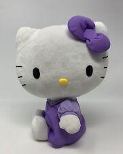 """Sanrio Hello Kitty Purple Dress Plush Stuffed Animal Toy 10"""" Jakks Pacific 2011"""