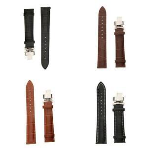 Bracelet de montre en cuir à dégagement rapide Bracelet à boucle déployante