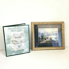 Vtg Thomas Kinkade Light in the Storm Lighthouse Love by Sea Collection 98 Coa