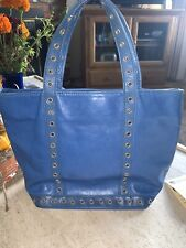Vanessa Bruno Le Cabas Spice  Leather Tote Shopper with Eyelets