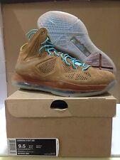 """Nike Lebron X 10 EXT QS """"Hazelnut"""" Suede - Sz 9.5 - Brand New DS - Free Shipping"""