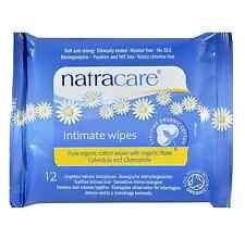 Natracare Organic Cotton Intimate Wipes 12 ea