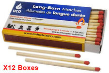 UCO Long Burn Stormproof Matches 50pcs Burn up to 1 min X12 Boxes