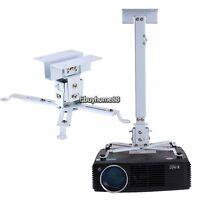 Projector Mount Universal Ceiling Bracket LCD DLP Tilt 360° Swivel 44lbs White